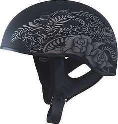 2015 New Gmax Gm65 Rose Womens Half Dot Motorcycle Helmet Harley indian scooter