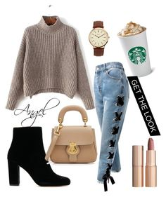 Love&Angel☕️ by angel1324 on Polyvore featuring polyvore, fashion, style, Sans Souci, Burberry, BKE, Charlotte Tilbury and clothing
