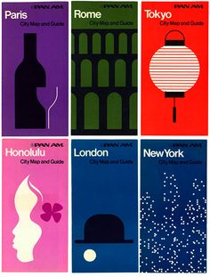 Beautiful designs for Paris, Rome, Tokyo, Honolulu, London and New York.  Makes me want more!  My favorite has to be Tokyo.  We spent several years on Okinawa.  The customs were so colorful.  #cities #posters #graphics