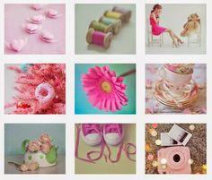 ピンク色の雑貨の組合わせ画像