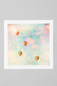 Bomobob For Society6 Floating Balloon Art Print  #UrbanOutfitters @Amanda Miserocchi ITS YOUR BIRTHDAY PRESENTTTTT.