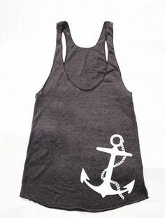 A Sailors Anchor Womens American Apparel Racerback by rabbitandeye, $24.00