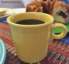 Talking about Sunflower Yellow Fiestaware dishes and items, the popular Fiesta dinnerware color since includes produced pieces, production dates. Homer Laughlin, Coffee Cake, Dinnerware, Texas, China, Dishes, Yellow, Cooking, Tableware