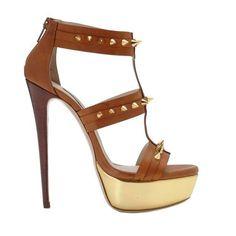 Heels. Spiky platforms with spiky studs! #heels #high heel shoes