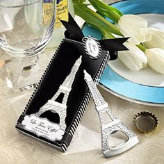 Eiffel Tower Chrome Bottle Opener Wedding Favor - Party America