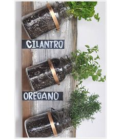 If you love to bring the outdoors in, then take a stab at this hanging herb garden. Here's what you'll need: wooden board (this one was rescued from the site of a torn-down home), mason jars, an assortment of hangers, and basic tools. Add the finishing touches with chalkboard paint and chalk. Get the tutorial from Camille Styles » - GoodHousekeeping.com