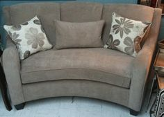 curved loveseat birchwood#4760