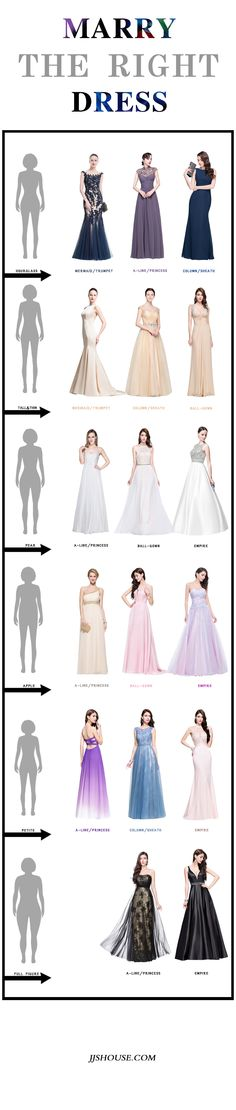 Tips to Choose the Wedding Dress with Perfect Silhouette | Dress ...