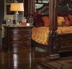 McFerran Home Furnishings - B6003 Nightstand in Rich Brown - B6003-N