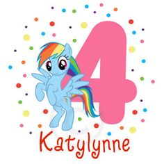 Personalized My Little Pony Rainbow Dash Birthday T Shirt Tshirt Party Treat