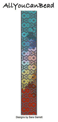 Peyote Bracelet Pattern 444 Bead Weaving INSTANT DOWNLOAD PDF