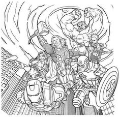 Download Avengers coloring pages here Thor Coloring Fantasy