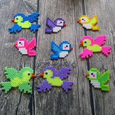 Birds hama beads by pys82