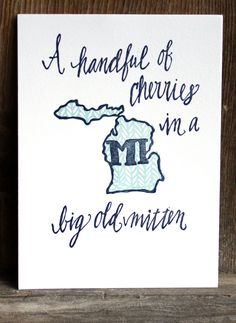 Michigan Letterpress Art Print by 1canoe2 on Etsy