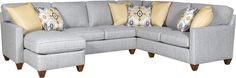 Mayo Furniture 3830F Fabric Sectional - Raven Stainless