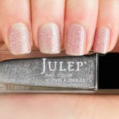 Joelle - Full coverage smoky holographic glitter nail polish.  Get your first box free!  ($45 value) http://www.julep.com/rewardsref/index/refer/id/313807/