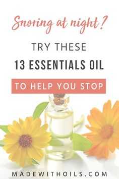 While there have been several studies done to find the best way to keep people from snoring, there is one solution that is completely harmless and has immediate results -- using essential oils! Learn about the 13 essential oils that can help stop snoring! Deep Sleep Essential Oils, Essential Oils For Thyroid, Natural Essential Oils, Essential Oil Blends, Snoring Remedies, Herbs For Health, Clear Skin Tips, Beauty Recipe, Health And Wellbeing