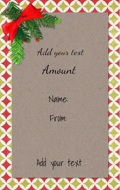 Gift Card Templates Free Gift Shaped Gift Certificatescustomize Online.free Instant .
