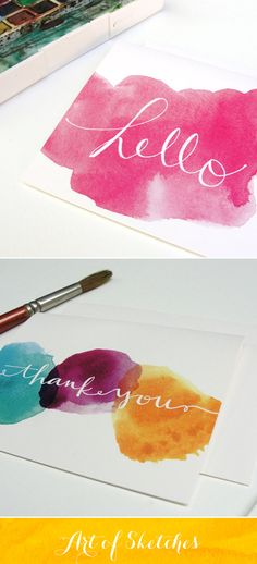Pretty Watercolor cards designed by An Open Sketchbook Diy Cadeau, Diy Y Manualidades, Illustration Noel, Karten Diy, Creation Deco, Watercolor Cards, Watercolor Sketchbook, Watercolour Painting, Diy Cards