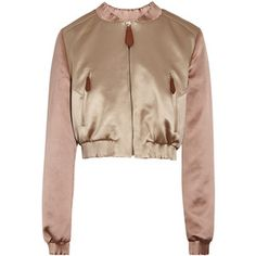 Burberry Prorsum Cropped satin bomber jacket