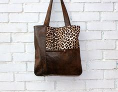 Tote bag handbagfaux suede in chocolate brown and by CheriDemeter, $41.00