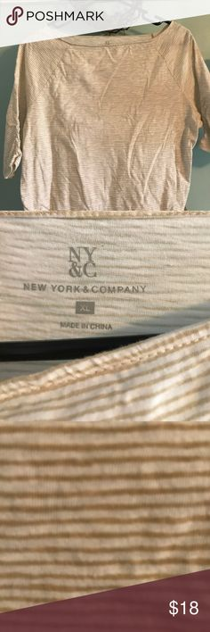 New York & Company XL boat neck striped top Casual boat neck top by NY&C, XL, worn a few times New York & Company Tops Tees - Short Sleeve