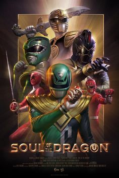 Soul of the Dragon Screen Print (Variant) - Lineage Studios Power Rangers Fan Art, Power Rangers Comic, Power Rangers Zeo, Mighty Morphin Power Rangers, Dino Rangers, Tommy Oliver, Dc Anime, Anime Toon, Anime Art