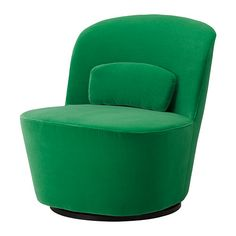 IKEA - STOCKHOLM, Swivel easy chair, Sandbacka green, , This armchair is made from molded high resilience foam that provides comfort and support – and keeps its shape for years.Velvet is a soft, luxurious fabric that is resistant to abrasion and easy to clean using the soft brush attachment on your vacuum.10-year limited warrranty. Read about the terms in the limited warranty brochure.