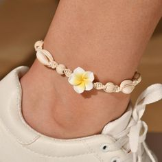 $11.18 | Bohemian Natural Seashells Ankle Bracelet Pink Yellow Little Flower Handmade Anklets for Women Wood Beads Foot Chain Jewelry Outfit Accessories FromTouchy Style | Free International Shipping. Girls Jewelry, Beach Jewelry, Bohemian Jewelry, Cute Jewelry, Charm Jewelry, Jewelry Accessories, Beach Bracelets, Ankle Bracelets, Anklet Jewelry
