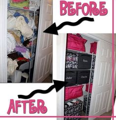 Linen Closet Before and After www.mythirtyone.com/210750