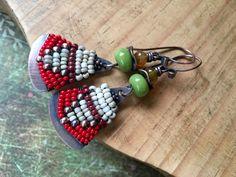 Rustic Alegria,Alegria Series earrings n.227- summery . summer hippie . rustic beaded colorful . folk ethnic boho tribal . festive bohemian by Tribalis on Etsy https://www.etsy.com/listing/184427193/rustic-alegriaalegria-series-earrings