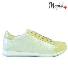 Adidas dama din piele naturala 23514/Alb-Galbui/Oscar