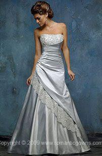 Simple silver wedding dress | Wedding - Dress | Pinterest ...