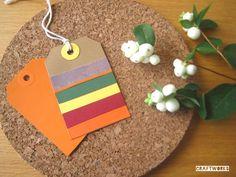 Etiquetas de colores otoñales