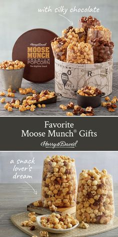 Snack lovers unite! Sharing your favorite snack is easy with Moose Munch, offered in a variety of delicious flavors. Every detail involved in the process of making Moose Munch has been perfected and that dedication and effort can be tasted in each sweet and crunchy bite of our gourmet popcorn. Shop the full Moose Munch Collection for any occasion, like birthday, thank you, I love you, congratulations, sympathy, anniversary... and just because!