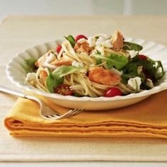 Warm Salmon and Arugula Pasta Salad