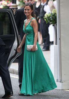Pippa Middleton's Glamorous Green Royal Wedding Reception Dress