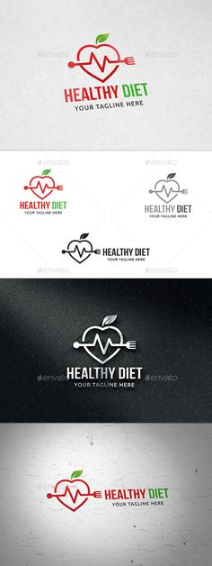 Healthy Diet - Logo Design Template Vector #logotype Download it here: http://graphicriver.net/item/healthy-diet-logo-template/11866638?s_rank=702?ref=nexion