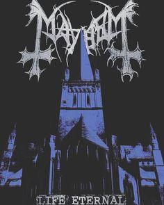 Life Eternal - listen to this song \m/ Heavy Metal Art, Black Metal, Mayhem Band, Metallica Art, Extreme Metal, Metal Albums, Metallic Wallpaper, Thrash Metal, Band Posters