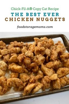 The Best Ever Chicken Nuggets - Food Storage Moms Diner Recipes, Copycat Recipes, Diner Food, Real Food Recipes, Chicken Recipes, Cooking Recipes, Chicken Meals, Snack Recipes, Individual Appetizers