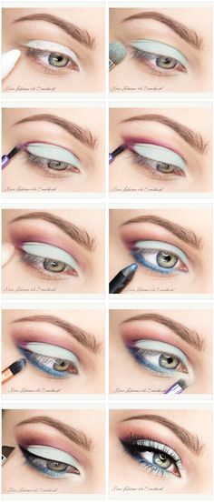 Beautiful Multicolor Eyeshadow tutorial