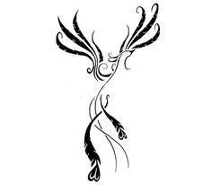 abstract phoenix tattoo - love it!