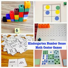 Teaching Math in Kindergarten: Numbers and Number Sense Activities. Great Math Center/Station games.