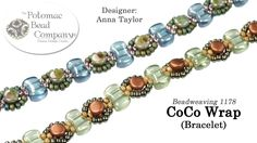 """Supplies from http://www.potomacbeads.com In this tutorial from The Potomac Bead Company, Allie teaches you to make Anna's fun & easy """"CoCo Wrap"""" design. Fin..."""