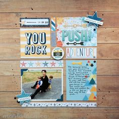Push | crafts by marialachica | scrapbooking layout using cocoa vanilla studio you rock