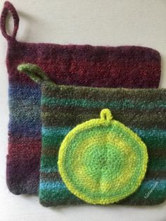 My felted pot holders