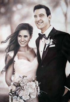 WeddingPortraits | WeddingPaintings | Bridal Portraits.. #wedding #weddingportrait #paint #painting #paintyourlife