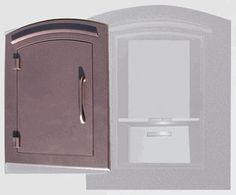 Locking Column Mailbox Antique Copper (stucco column purchased seperately)