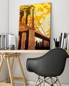 Retro NYC New York City Canvas Art @ http://artzeedesigns.com/products/canvas-art-abstract-art-retro-nyc-new-york-city-art-by-artzee-designs.html