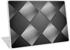 Black Metal and Mesh Diamond Pattern | Design available for PC Laptop, MacBook Air, MacBook Pro, & MacBook Retina